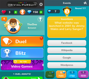 Trivial Pursuit & Friends application android
